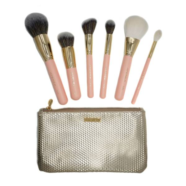 KIT DE BROCHAS DE MAQUILLAJE DREAMLAND X 6 PCS